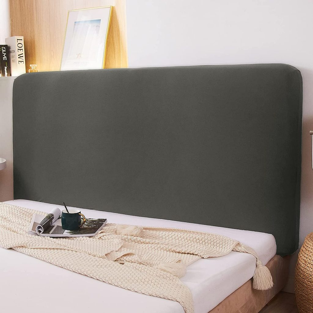 WOMACO Stretch Dorm Headboard with Fabric Solid Color Dustproof