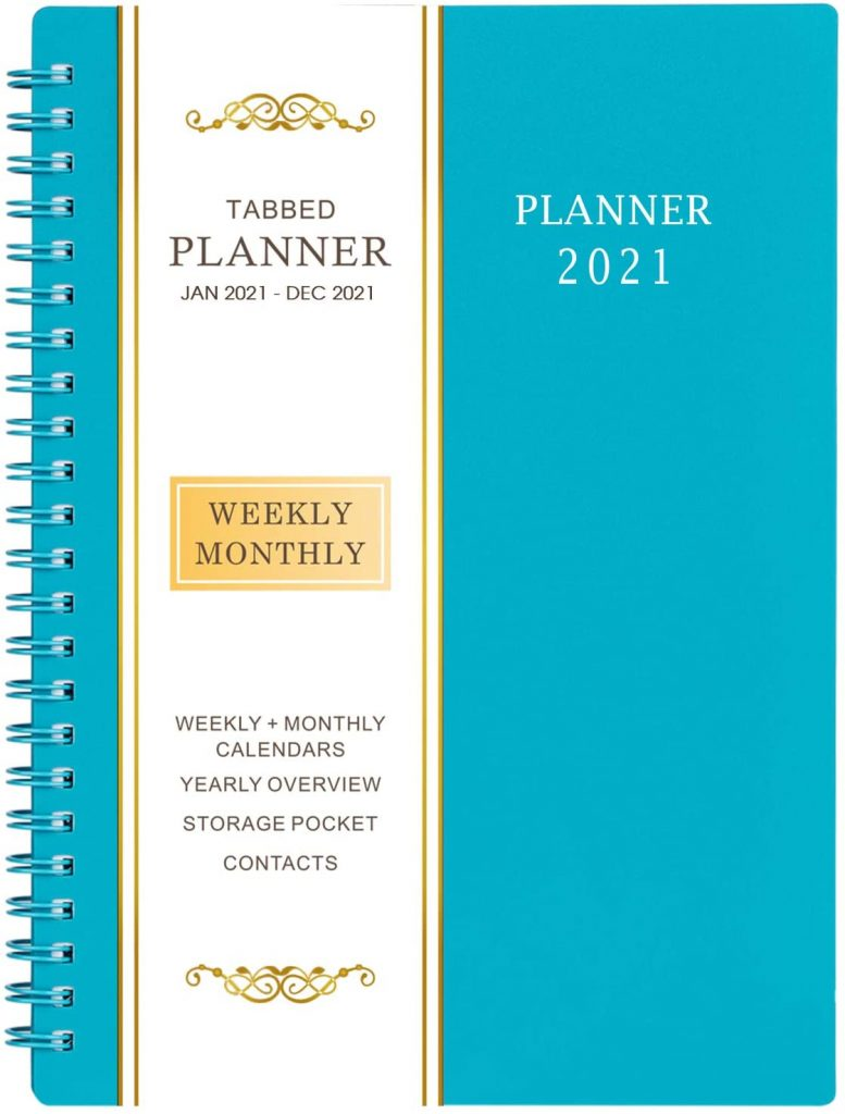 2021 Weekly & Monthly Planner with Flexible Cover