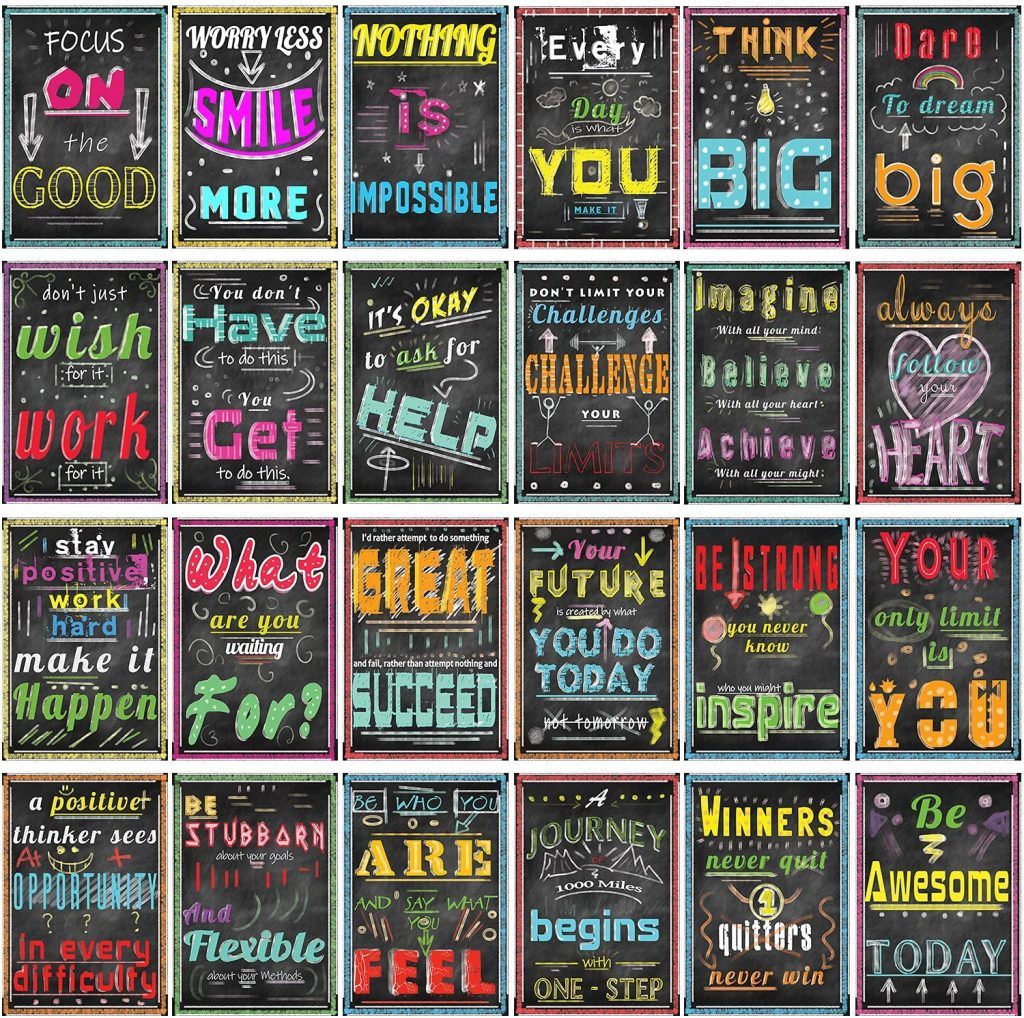24 Pack Motivational Posters for Classroom