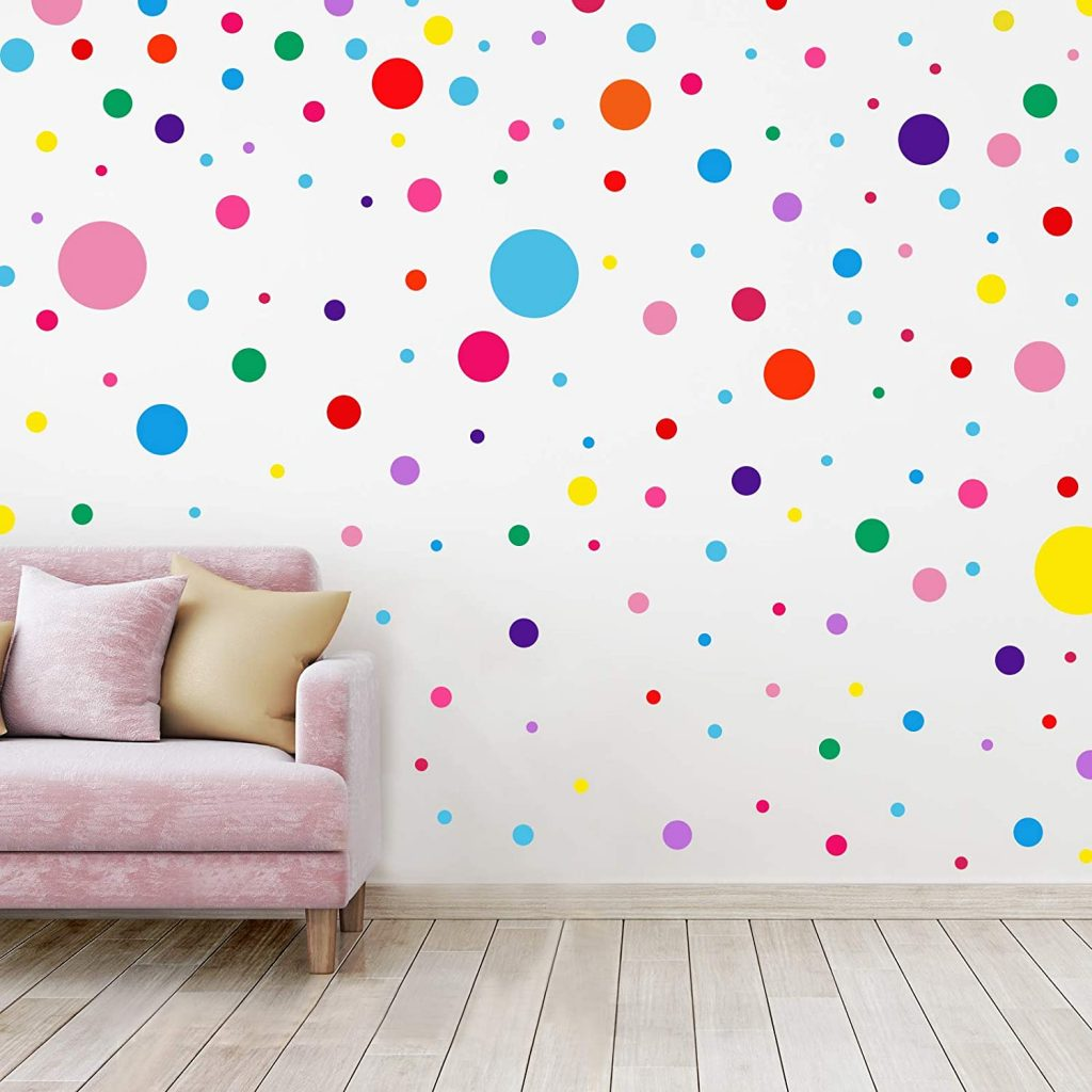 264 Pieces Polka Dots Wall Decal for Classroom