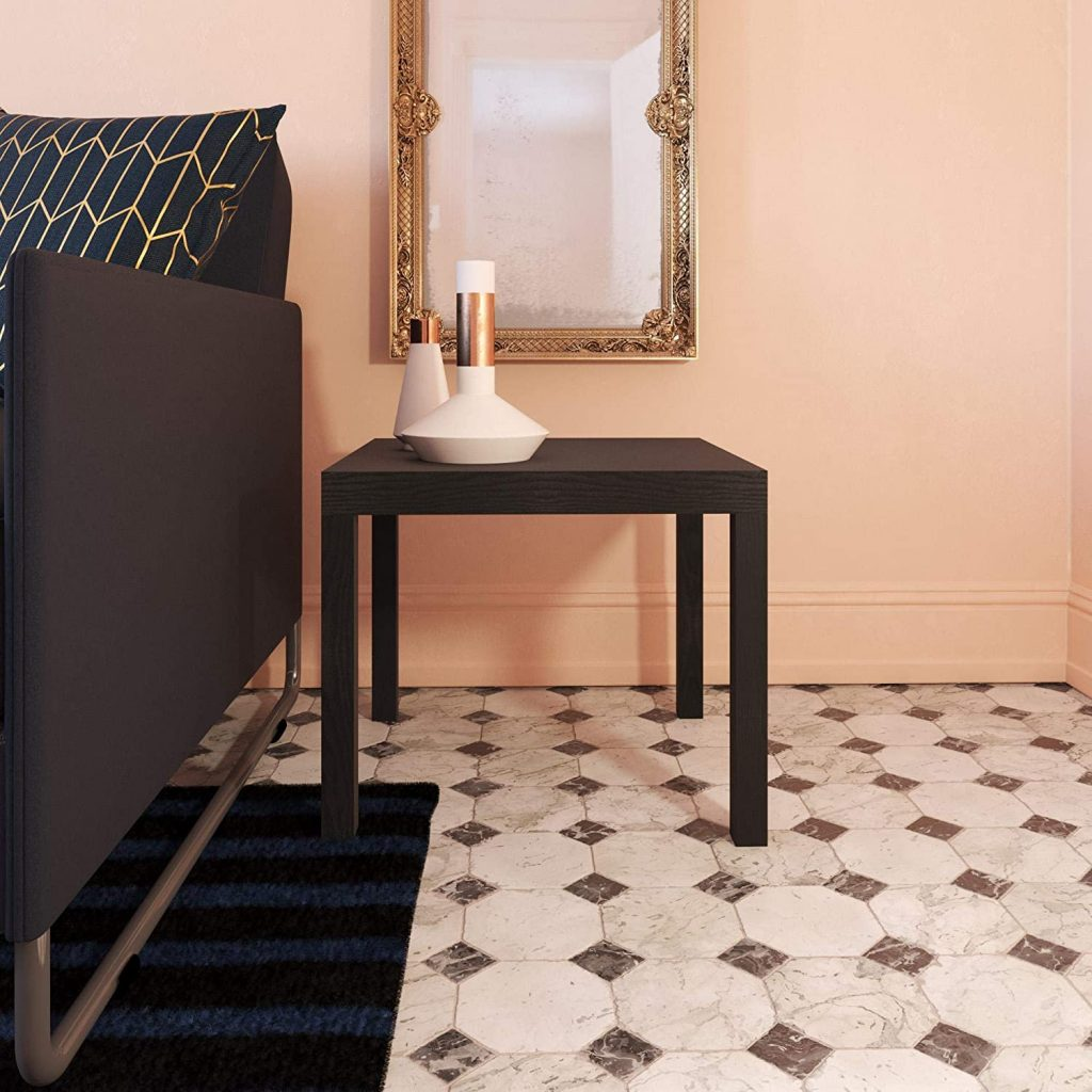 Ameriwood Modern End Table with Black Shade
