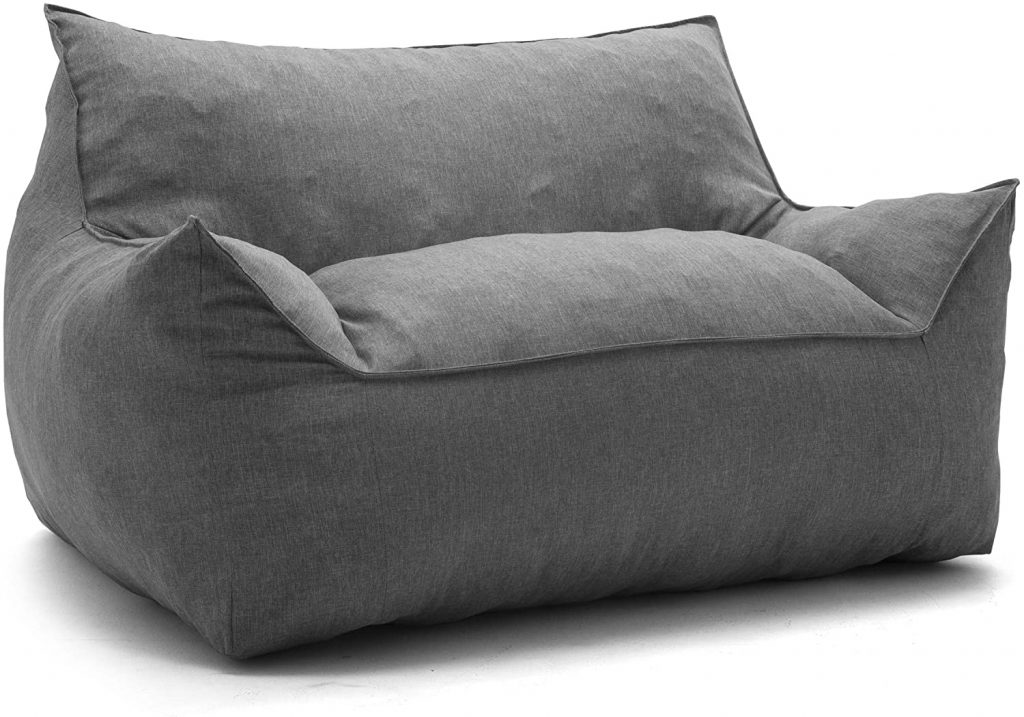 Big Joe Lux Futon for Dorms with Grey Shade