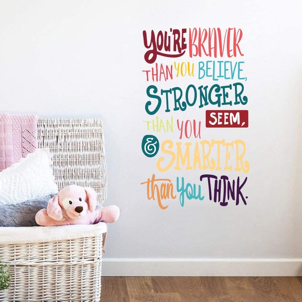 Colorful Inspirational Lettering Quote Wall Decal for Classroom