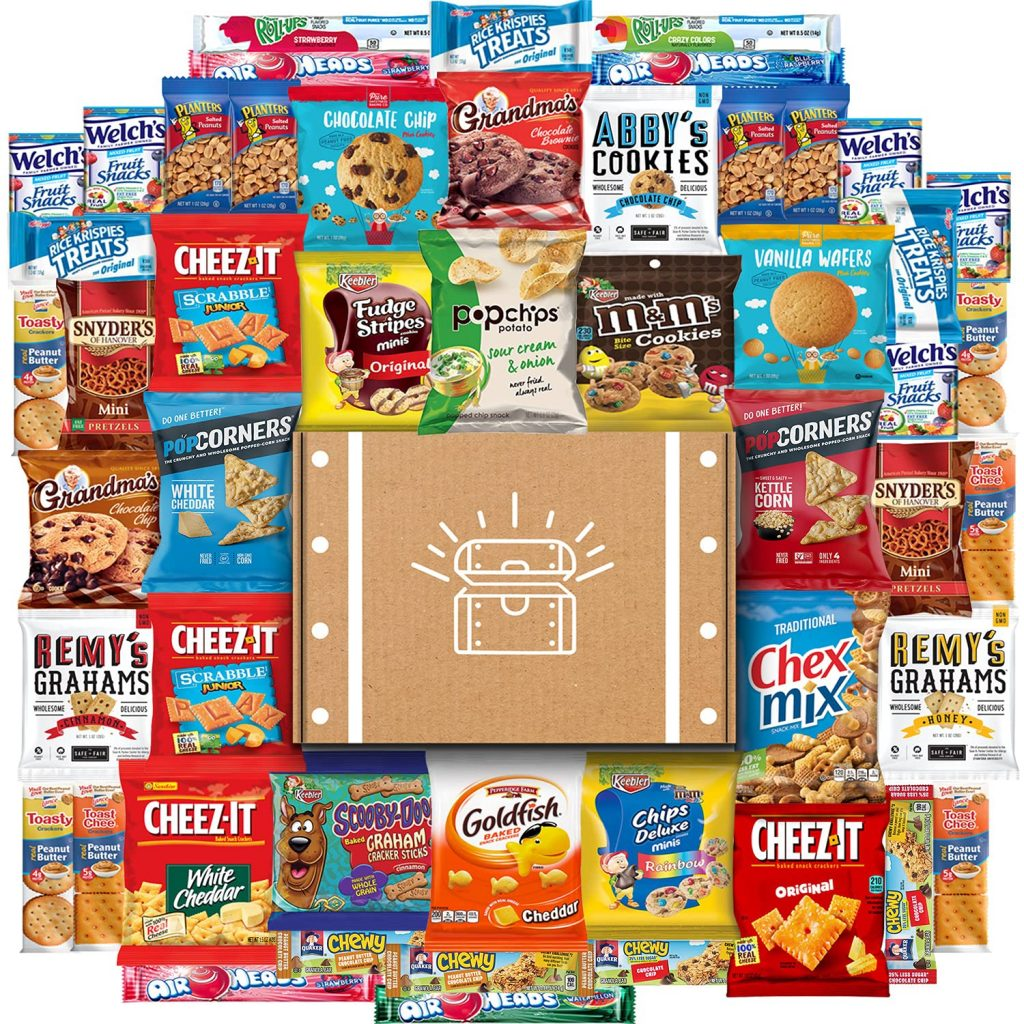 Cookies, Chips & Candies Ultimate Snacks Care Package Bulk Variety Packby Snack Chest