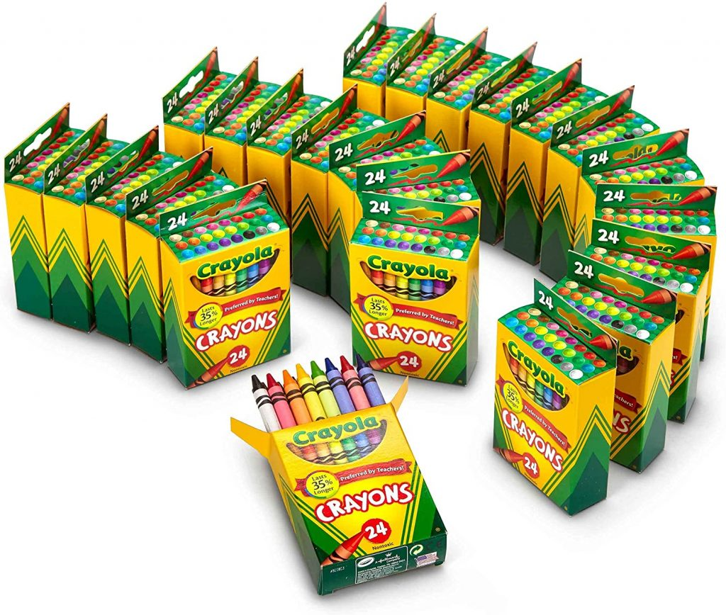 Crayola Crayon Packs with 24 Assorted Colors