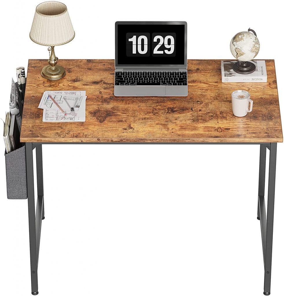 CubiCubi Dorm Table with Black Metal Frame