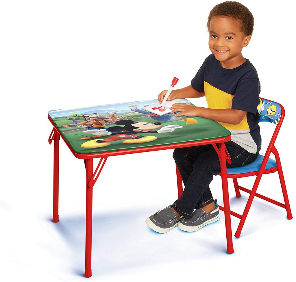 Disney Junior Mickey Mouse Table and Chair Set for Toddlers Ages 2-5 Years