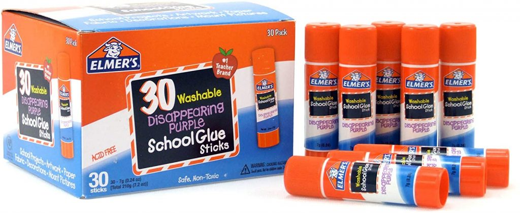 Elmer's Disappearing Purple School Glue with 30 Pack