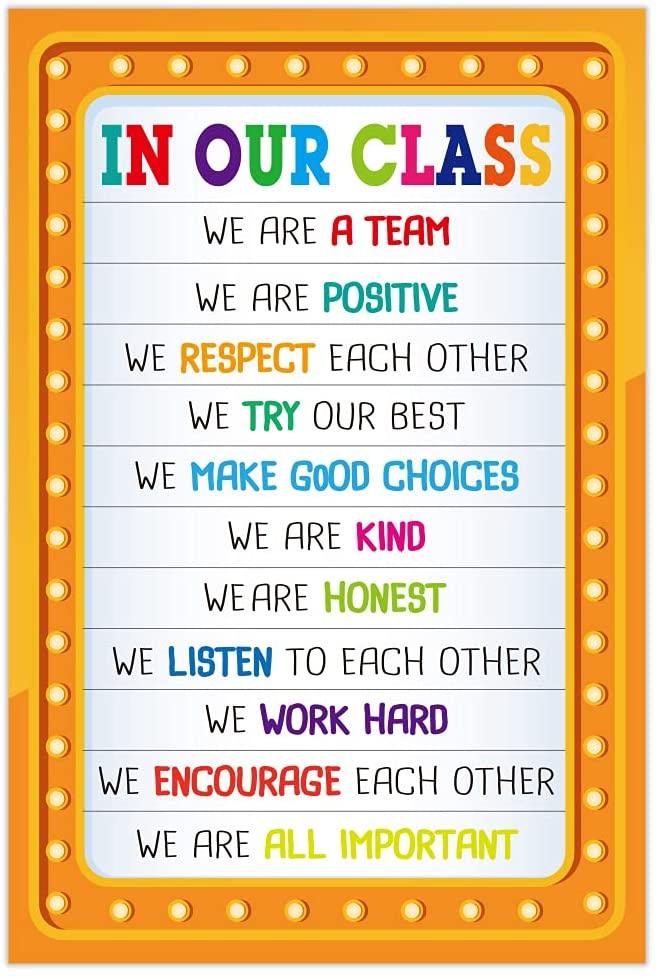 FaCraft Classroom Rules Motivational Poster