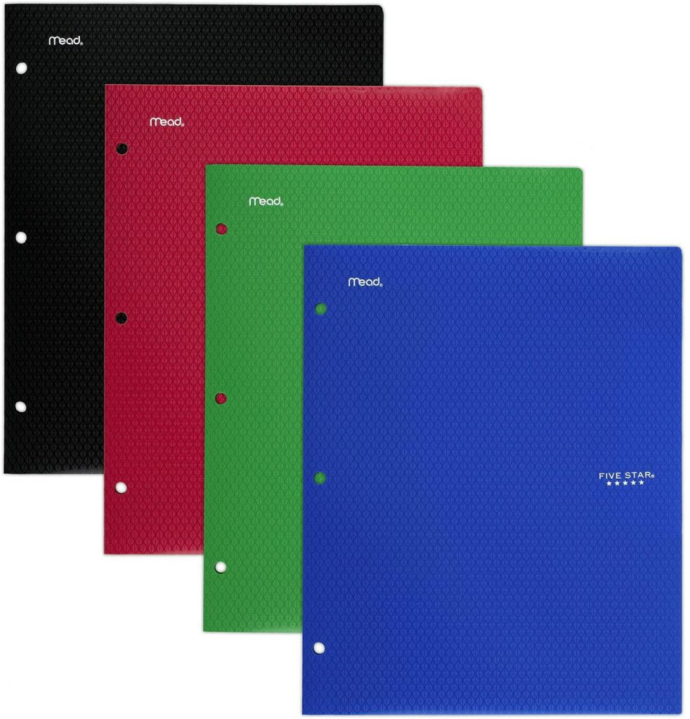Five Star 2 Pocket Folders with Pockets & Prong Fasteners for 3-Ring Binders