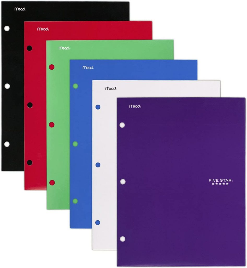 Five Star 4 Pocket Folders with 2 Additional Pockets