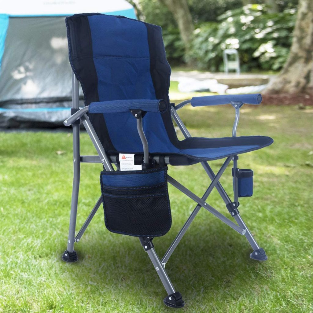Homcosan Portable Chair with Folding Padded Armrests