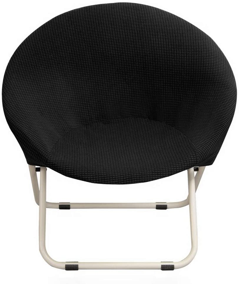 Hoomall Round Saucer Chair with Removable Spandex Fabric