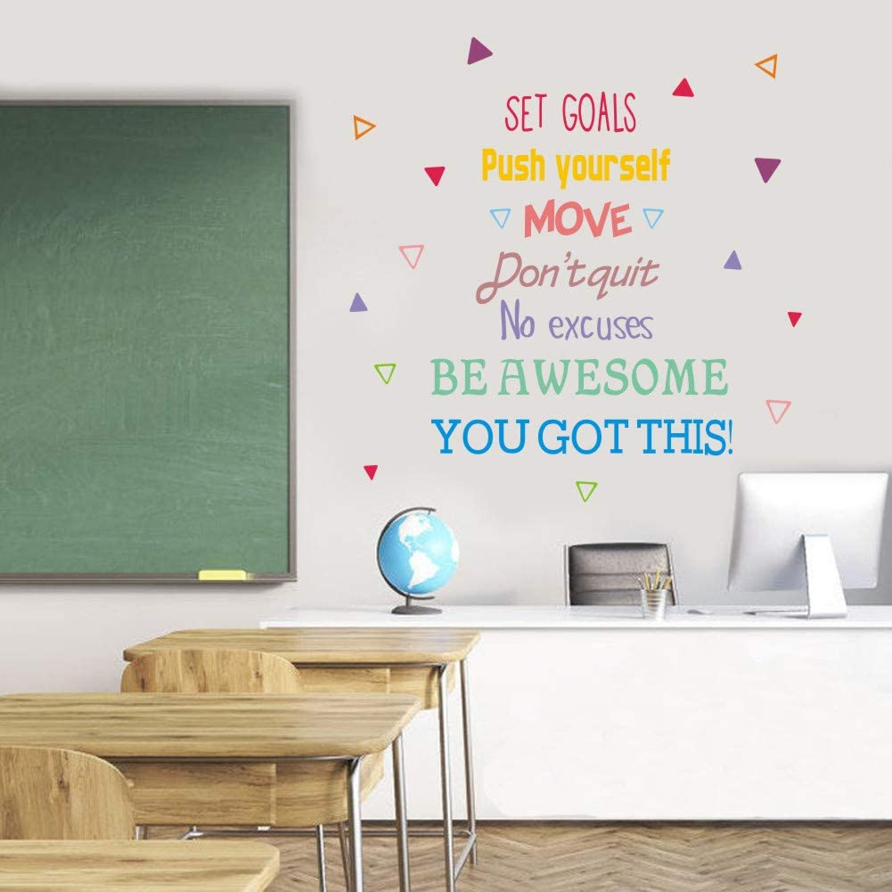 IARTTOP Colorful Inspirational Quote Wall Decal