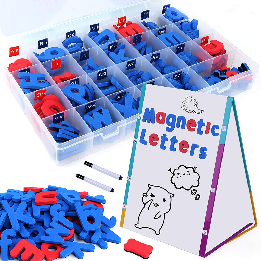 INNOCHEER Classroom Magnetic Letters and Numbers Kit with Easel Board