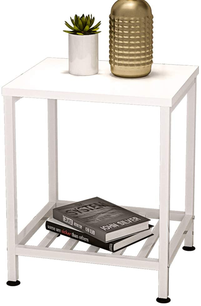IOTXY Modern End Table with 2-Tier Sofa