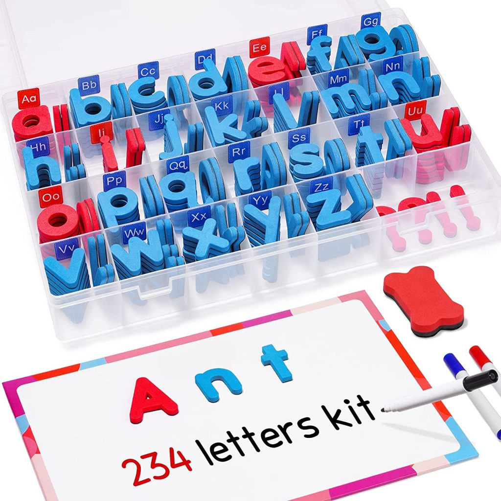 JoyNote Classroom Magnetic Letters Kit with Double-Side Magnet Board