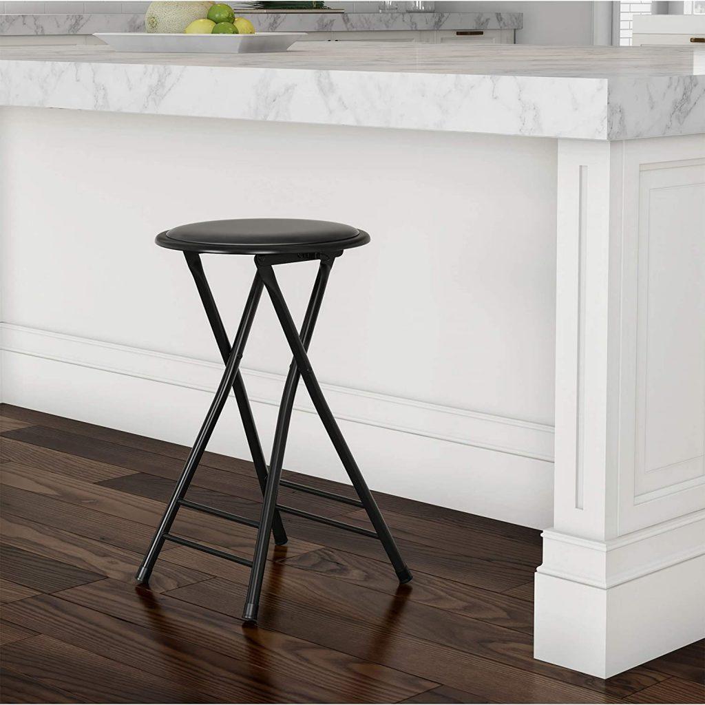 Lavish Home Folding Stool Chair with 300 Pound Capacity