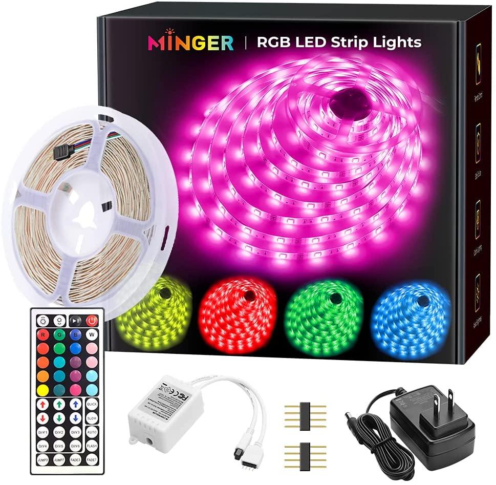 MINGER LED Lights with 16.4ft DIY Mode