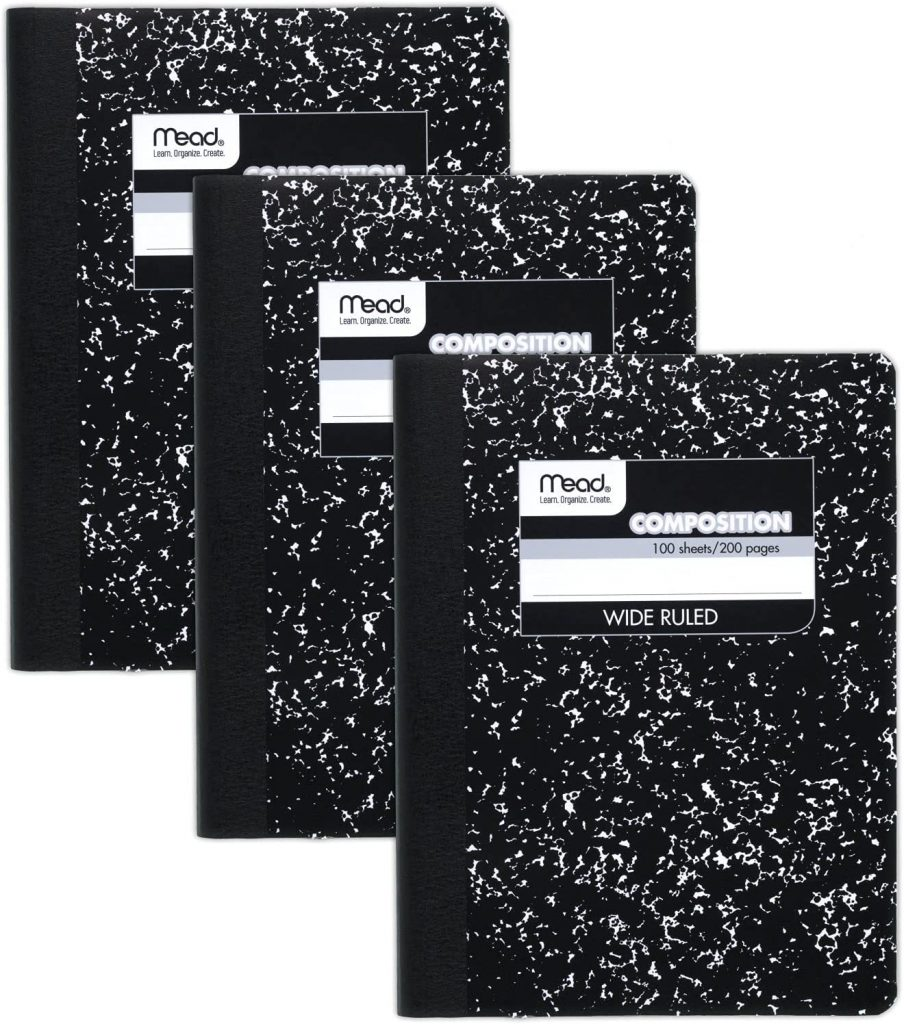 Mead Composition Notebooks with 100 Sheets
