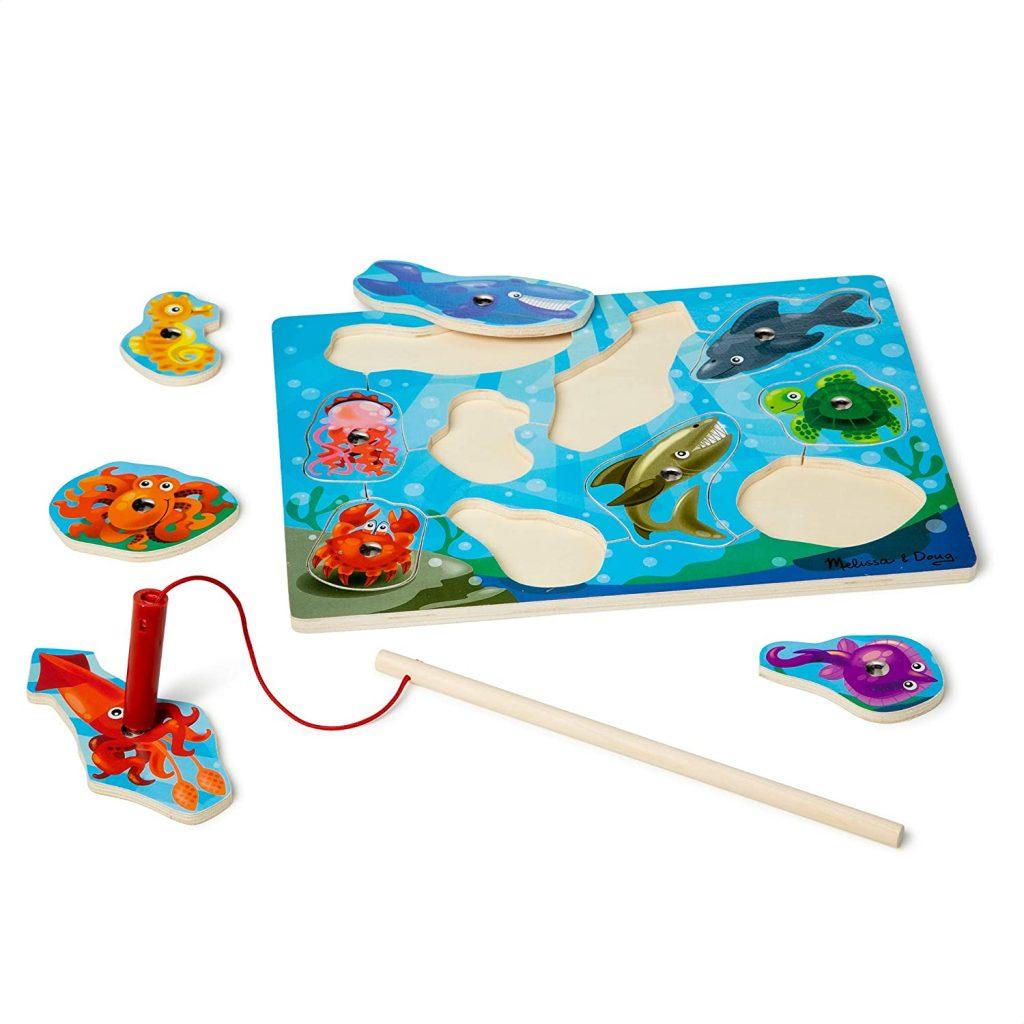 Melissa & Doug Magnetic Wooden Fishing Game