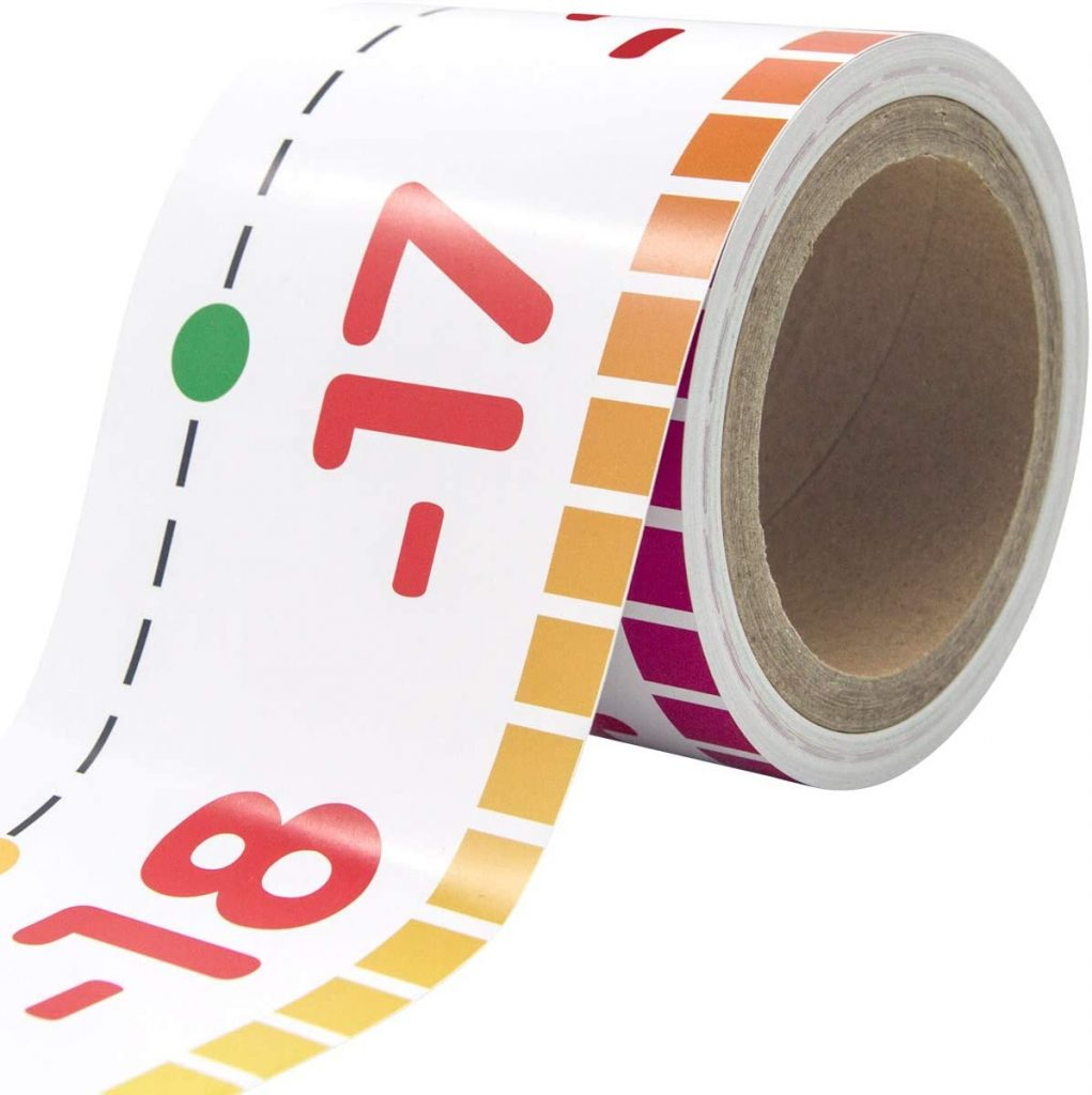 Number Line Bulletin Board Border with 36ft Roll for Math Classes