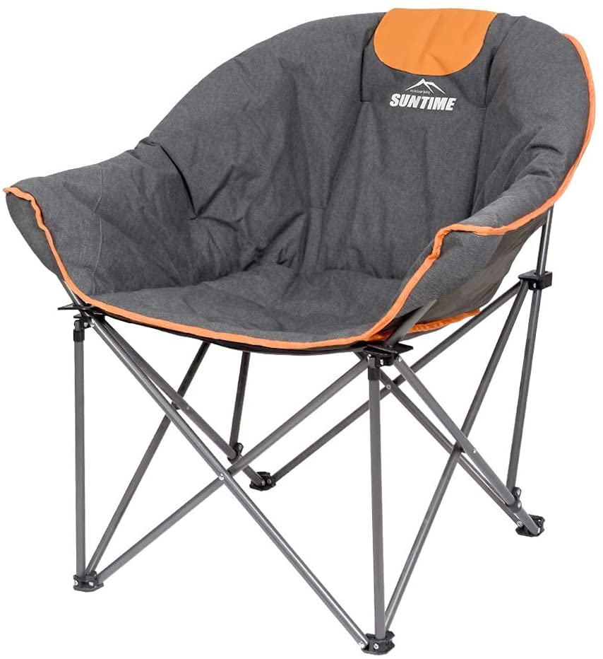 Oversize Padded Moon Leisure Portable Stable Comfortable Folding Chair