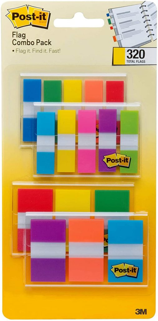 Post-it Flags Assorted Color Combo Pack with 320 Flags
