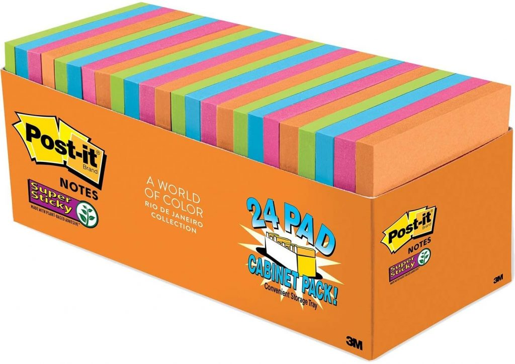 Post-it Super Sticky Notes with 24 Pads