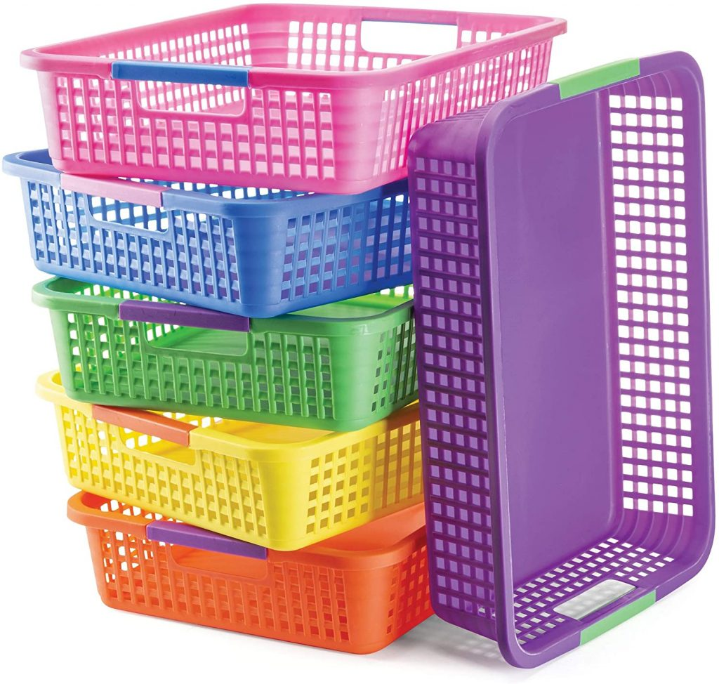 Prextex Classroom Storage Basket with Pack of 6