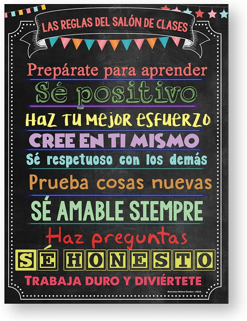 Spanish Classroom Decorations with Classroom Rules