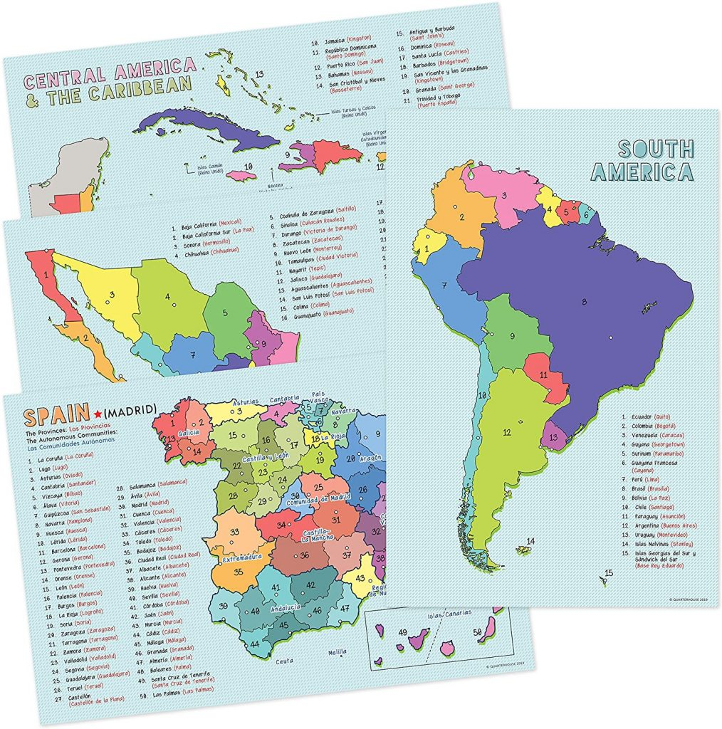 Spanish Language Country Maps for the Classroom