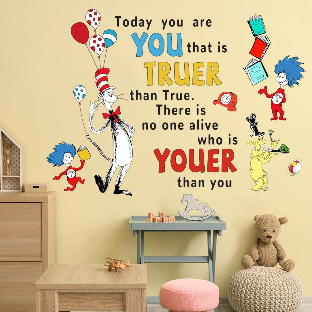 Supzone Dr Seuss Wall Decals