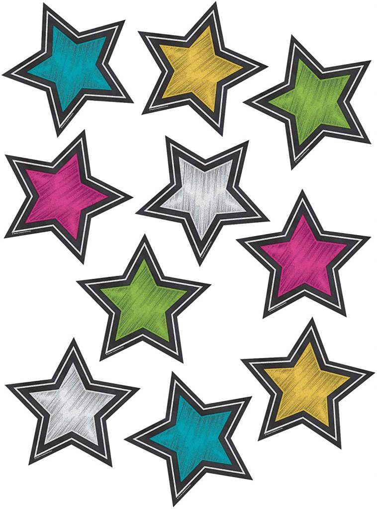 Teacher Created Resources Chalkboard Brights Stars Accents