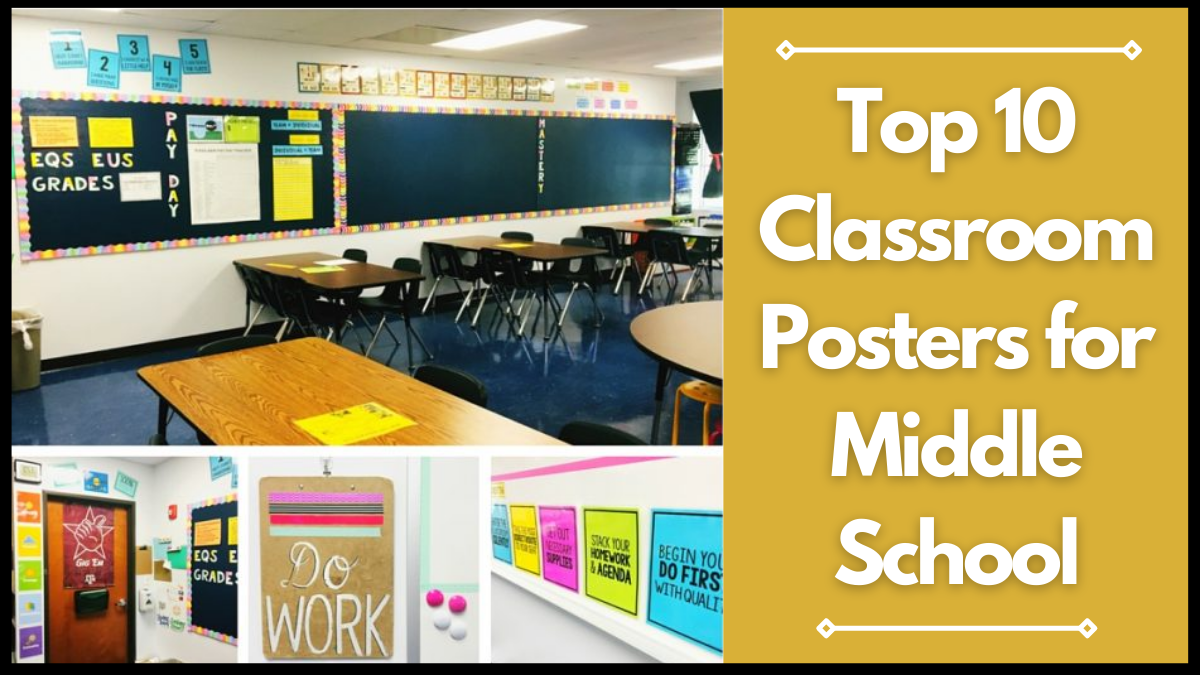 Top 10 Classroom Posters for Middle School