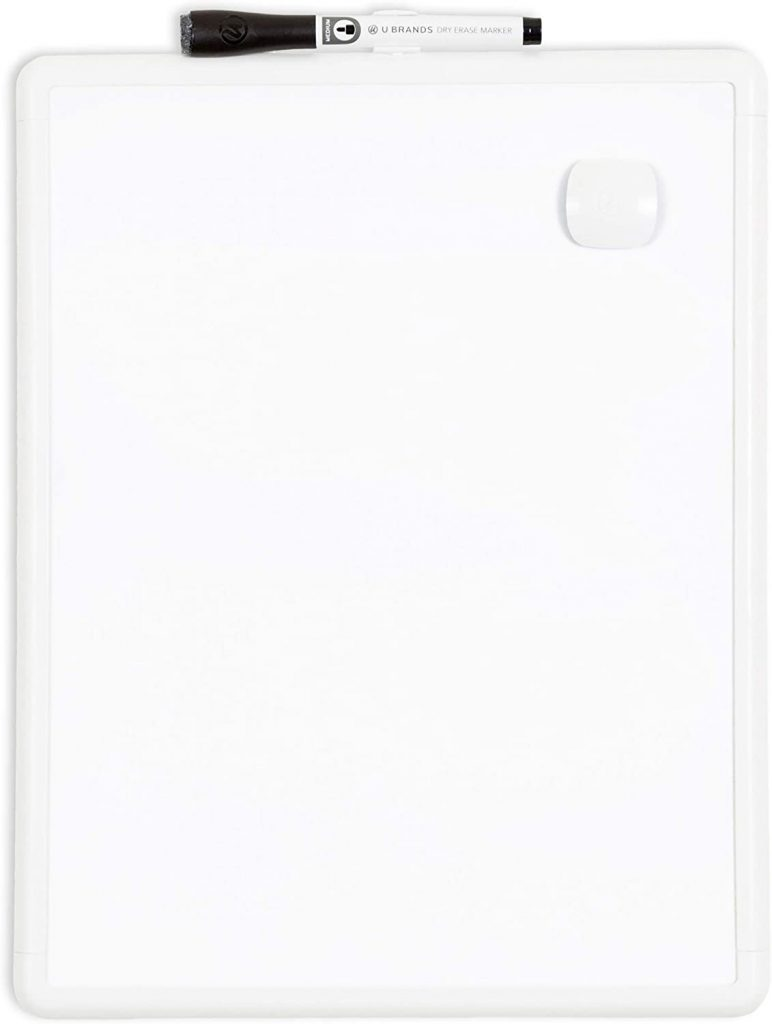 """U Brands Contempo Magnetic 11"""" x 14"""" Dry Erase Board with Magnet and Marker"""