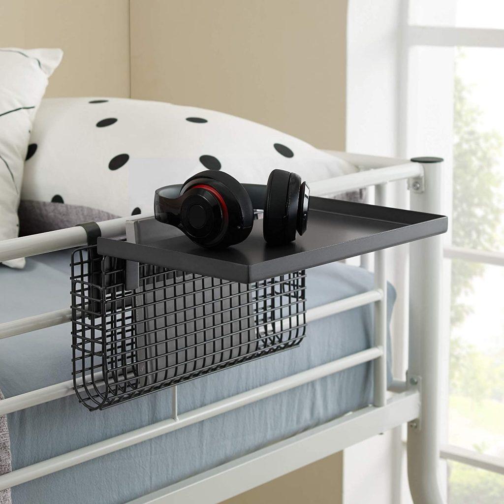 Walker Edison Universal Metal Bunk Bed Shelf