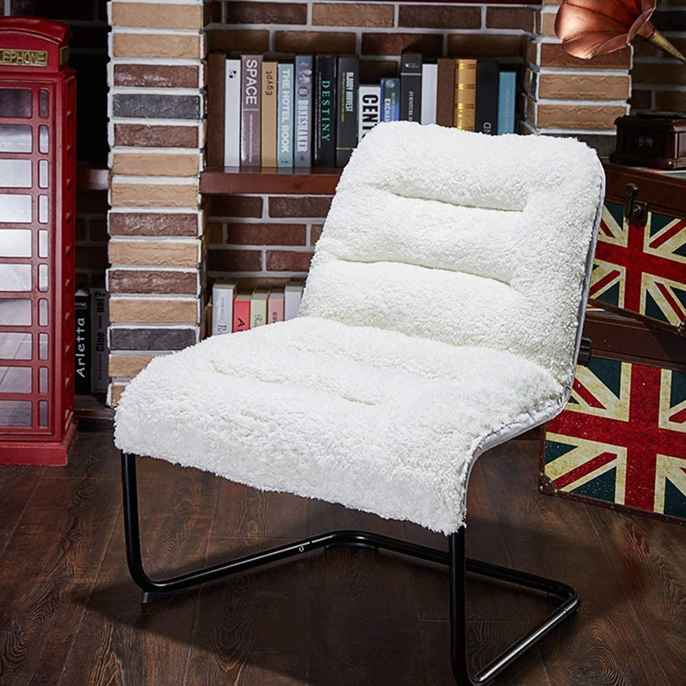 Zenree Living Room Chair Lounge Accent Upholstered Chairs with Sherpa Seat