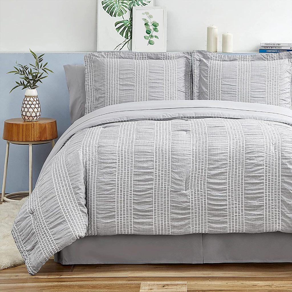 Bedsure Queen Comforter Set with 8 Pieces